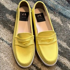 Women's Yellow Cole Haan Boat Loafers Shoes